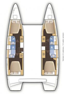 Boat rental Alimos cheap Lagoon 42