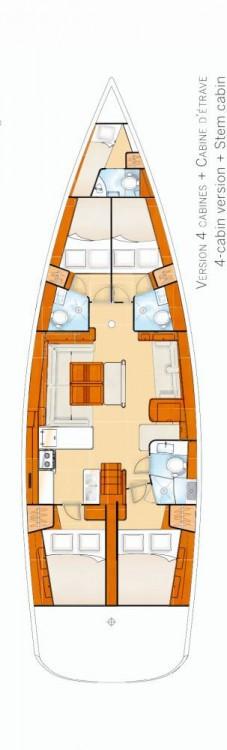 Rental yacht Peloponnese - Bénéteau Oceanis 54 - 4 + 1 cab. on SamBoat