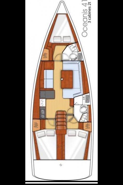 Rental yacht Péloponnèse - Bénéteau Oceanis 41 on SamBoat