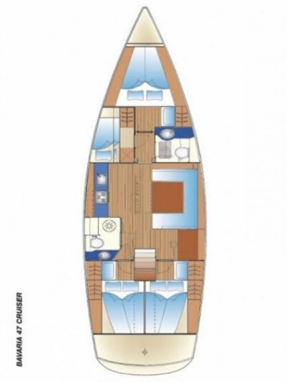 Rental Sailboat in Páros - Bavaria Cruiser 47