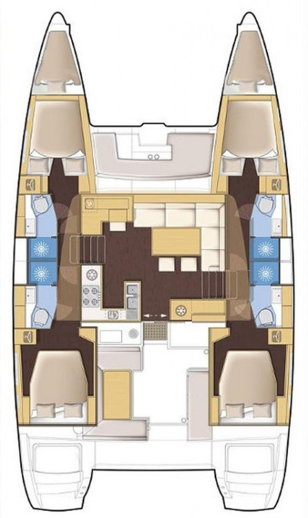 Rental yacht Volos - Lagoon Lagoon 450 - 4 + 2 cab. on SamBoat