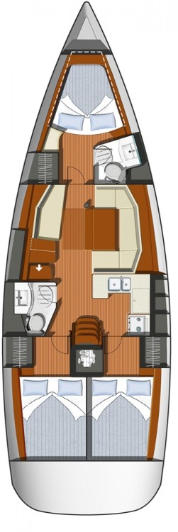 Boat rental Jeanneau Sun Odyssey 42i in Attica on Samboat
