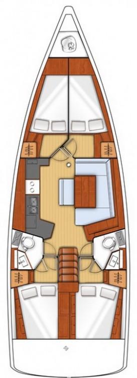 Rental yacht Seget Donji - Bénéteau Oceanis 45 - 4 cab. on SamBoat