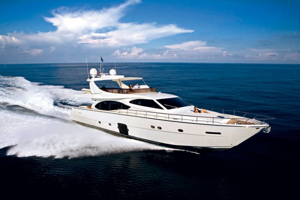 Rental Yacht Ferretti-Yachts-Group with a permit