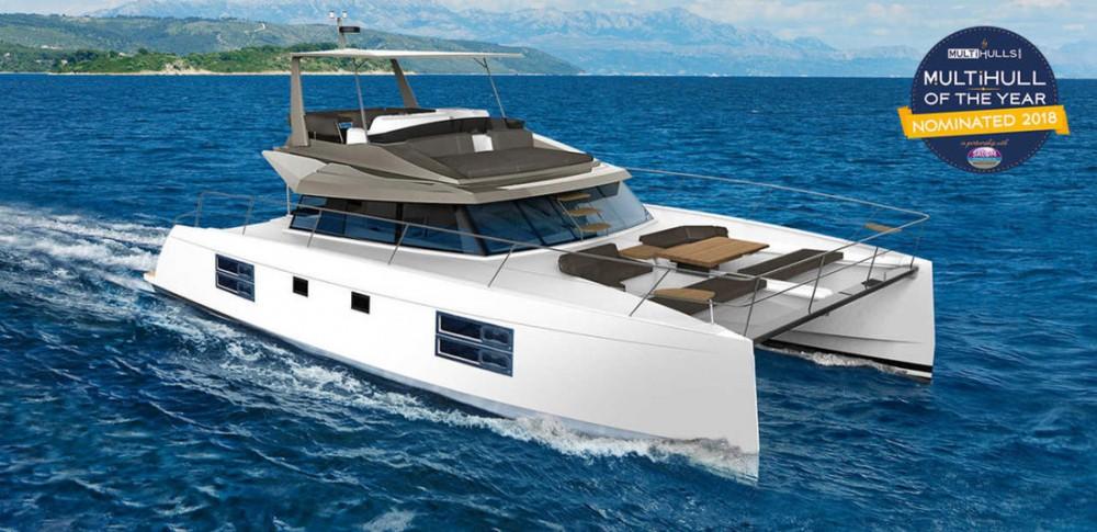Rental Catamaran in Korfu - Bavaria Nautitech 47 Power - 4 + 2 cab.