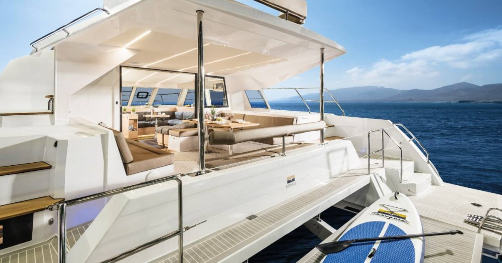 Boat rental Korfu cheap Nautitech 47 Power - 4 + 2 cab.