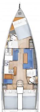 Boat rental Lefkada cheap Sun Odyssey 410 - 3 cab.
