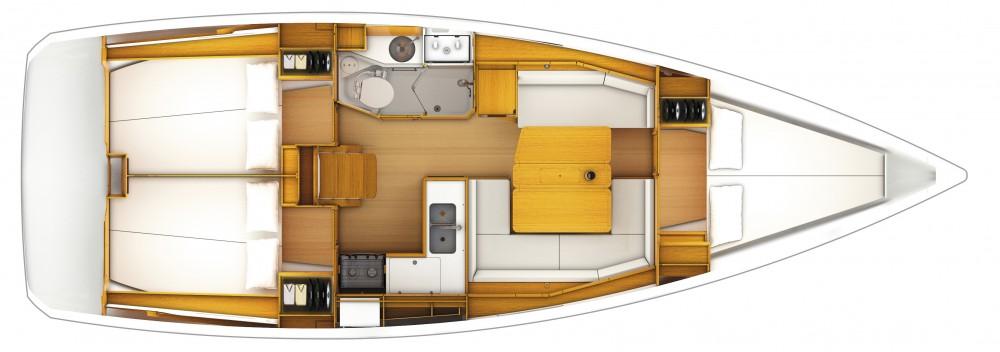 Boat rental Portocolom cheap Sun Odyssey 389