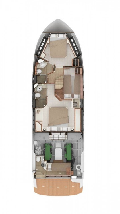 Rental Motor boat Absolute Yachts with a permit