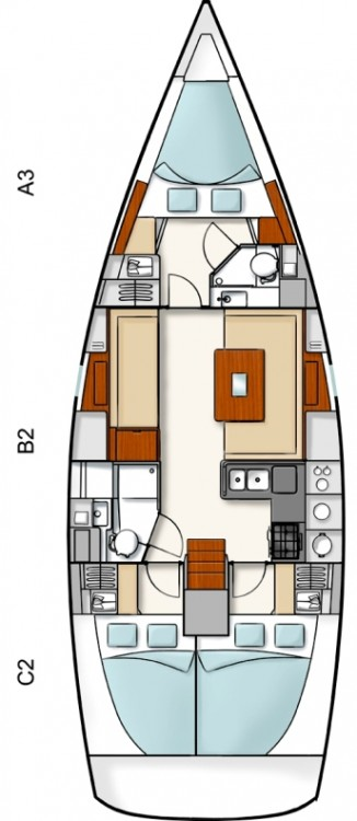Boat rental Hanse Hanse 400 in Peloponneso on Samboat