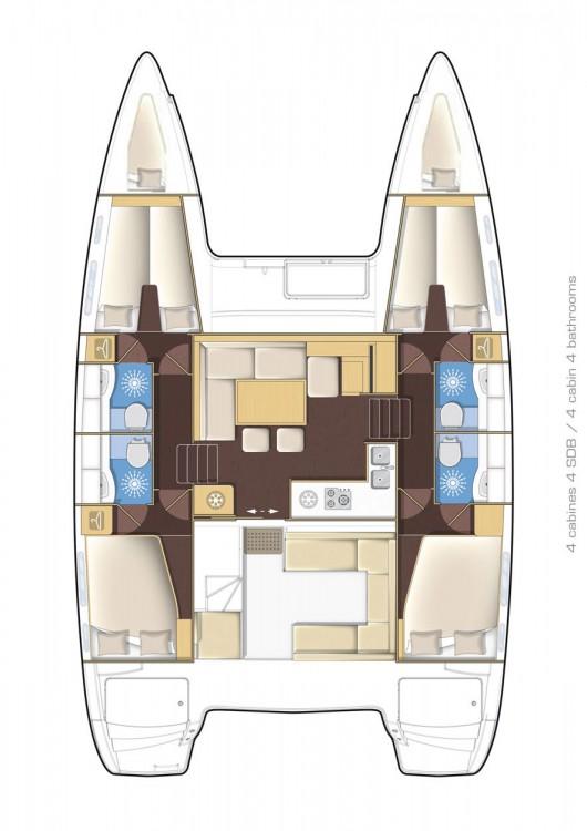 Boat rental Peloponneso cheap Lagoon 400 S2