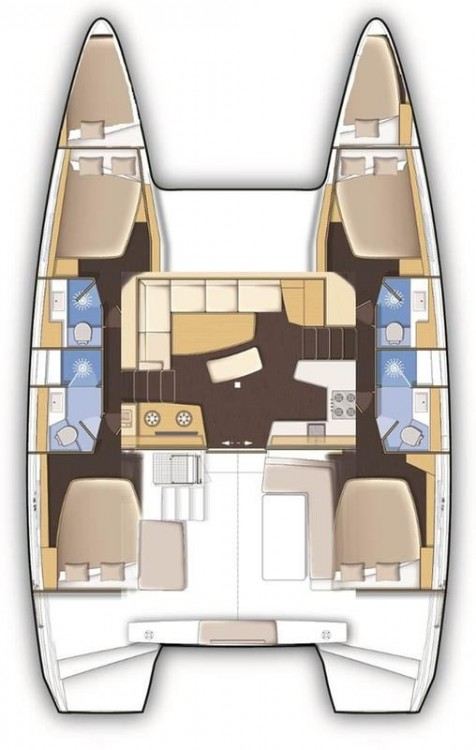 Rent a Lagoon Lagoon 42 - 4 + 2 cab. Peloponnese