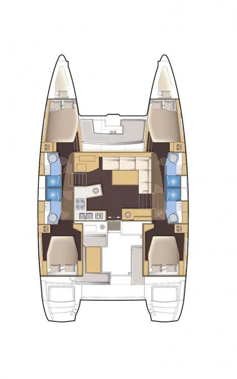 Rental Catamaran in Attica - Lagoon Lagoon 450