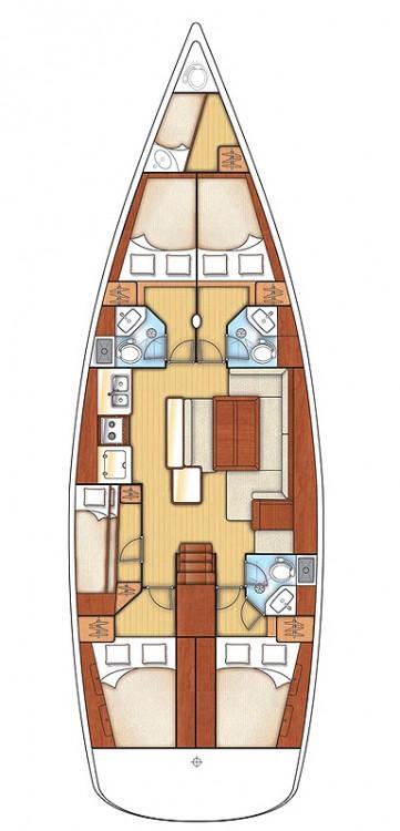 Rental Sailboat in Rogač - Bénéteau Oceanis 50 Family