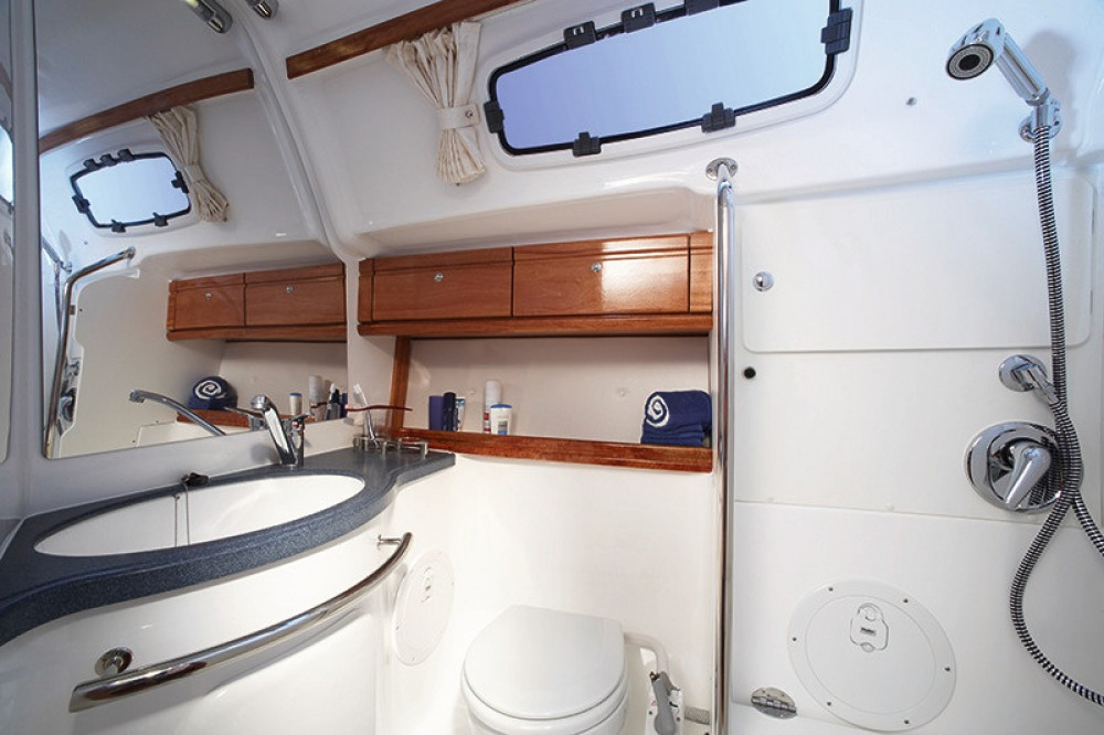 Bavaria Cruiser 46 between personal and professional South Aegean