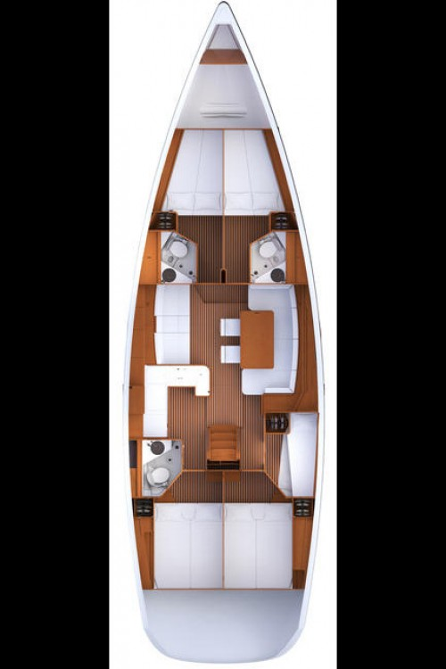 Rental Sailboat in Peloponnese - Jeanneau Jeanneau 53 - 5 + 1 cab.