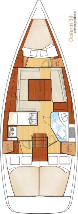 Rental Sailboat in Peloponnese - Bénéteau Oceanis 34