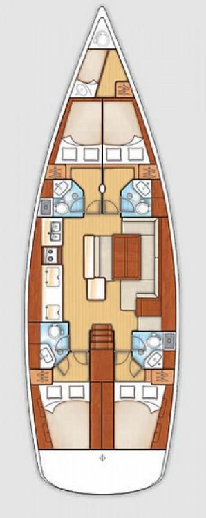 Rental yacht Lefkada - Bénéteau Oceanis 50 - 5 cab. on SamBoat
