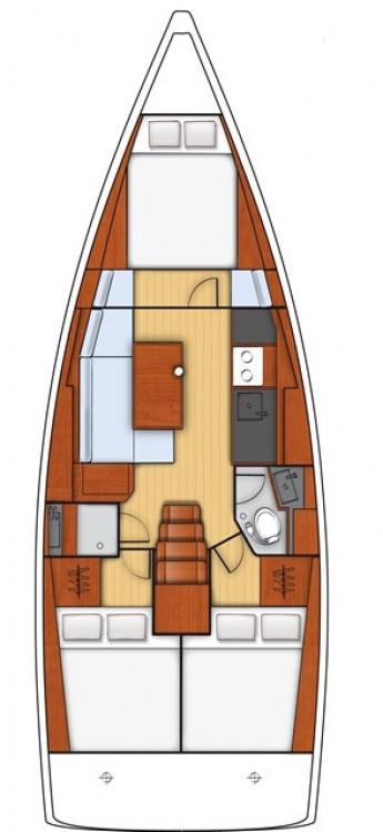 Boat rental Sardinia cheap Oceanis 38.1