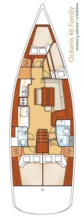 Rental Sailboat in Peloponnese - Bénéteau Oceanis 46