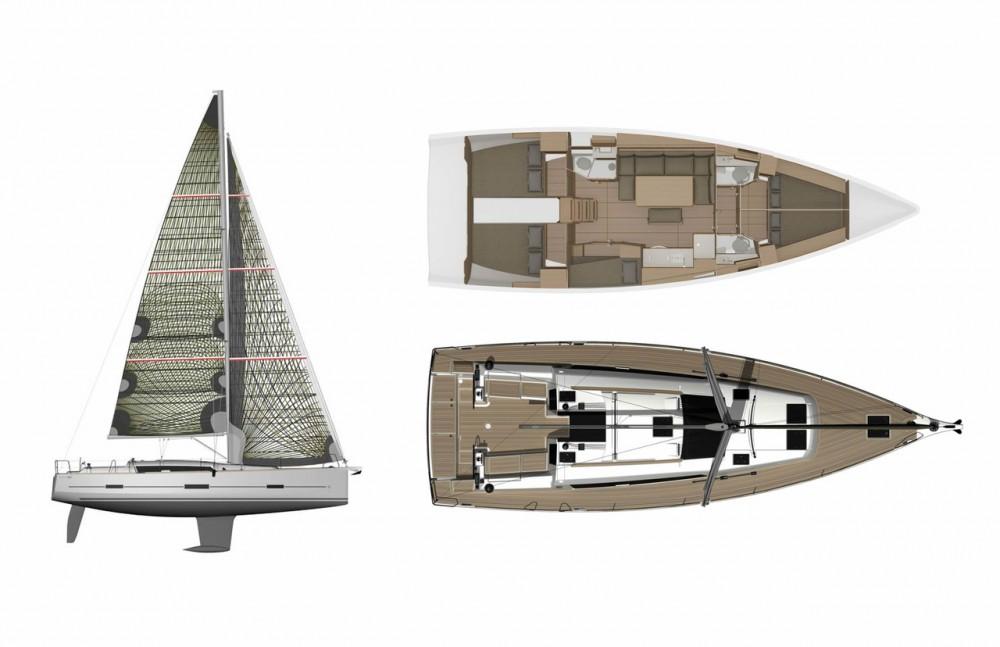 Rental Sailboat in Peloponnese - Dufour Dufour 460 GL - 5 cab.