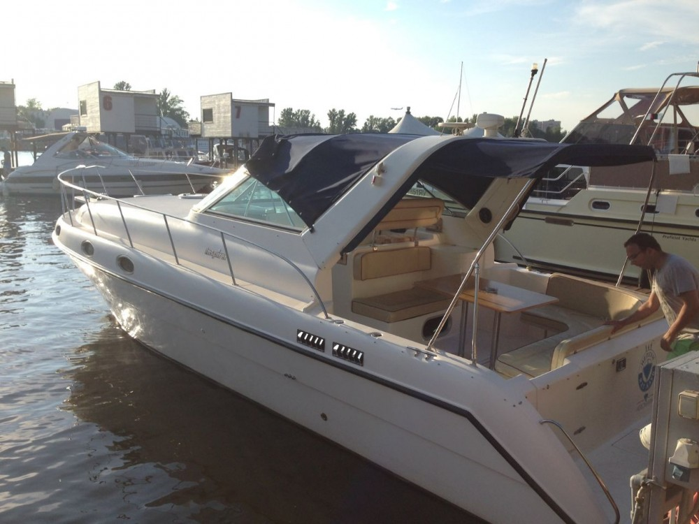 Motor boat for rent Pyrohiv at the best price