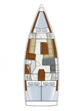 Rental yacht Kaštela - Hanse Hanse 345 on SamBoat