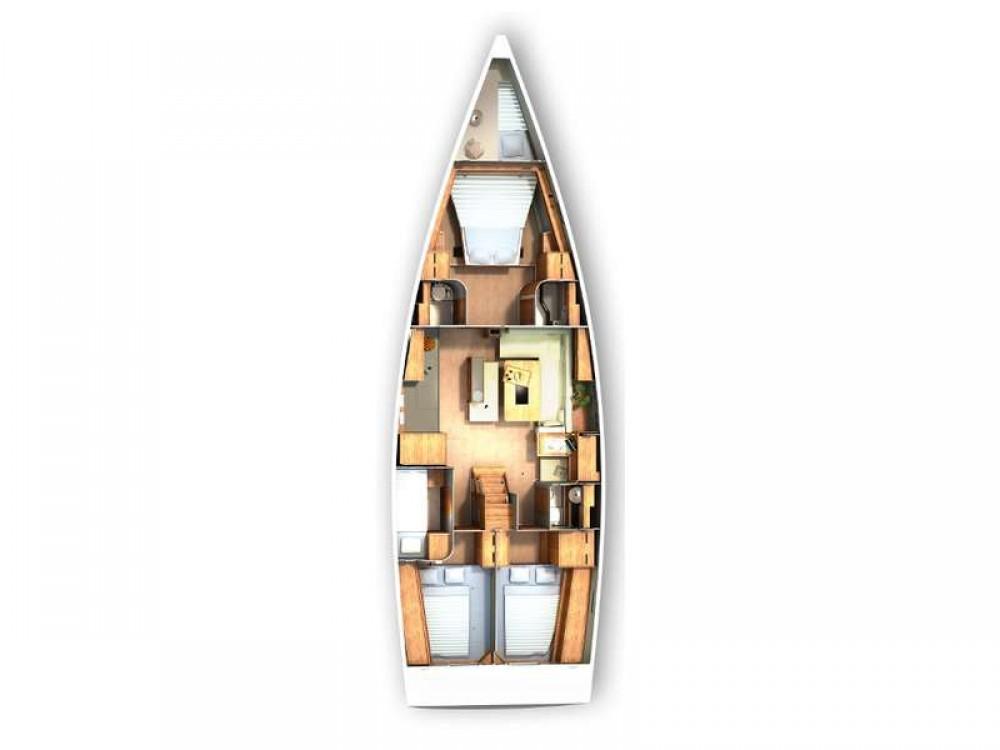 Boat rental Croacia cheap Hanse 505 - 4 + 1 cab.