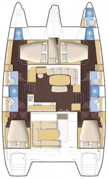 Rental yacht Croatie - Lagoon Lagoon 421 on SamBoat