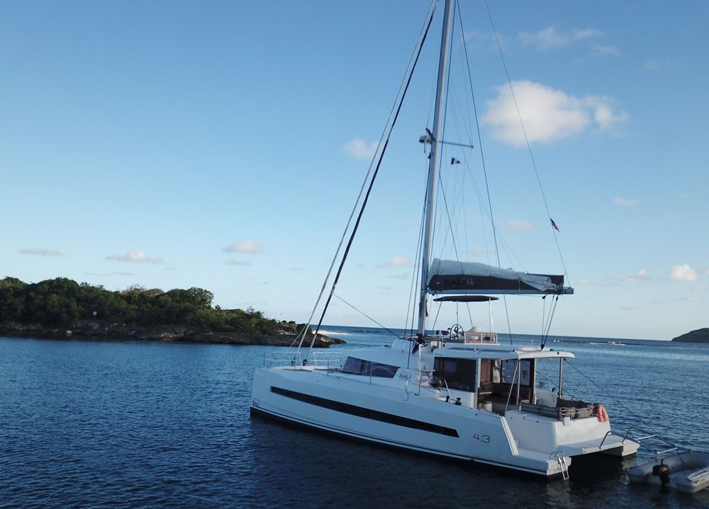 Catana Bali 4.3 Owner Version between personal and professional Jolly Harbour