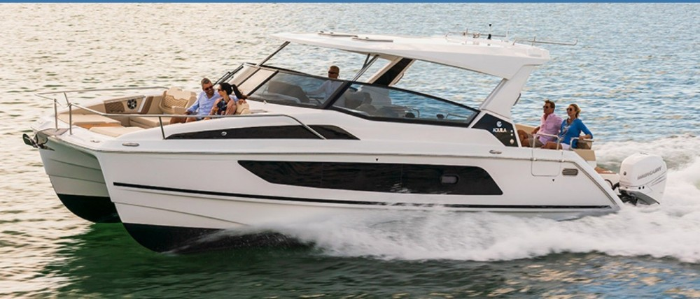 Hire Catamaran with or without skipper AQUILA Le Marin
