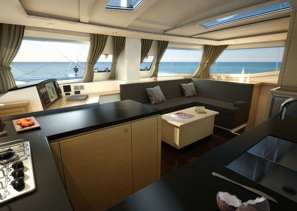 Fountaine Pajot Helia 44 between personal and professional Martinique