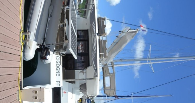 Fountaine Pajot Saona 47 between personal and professional Le Marin