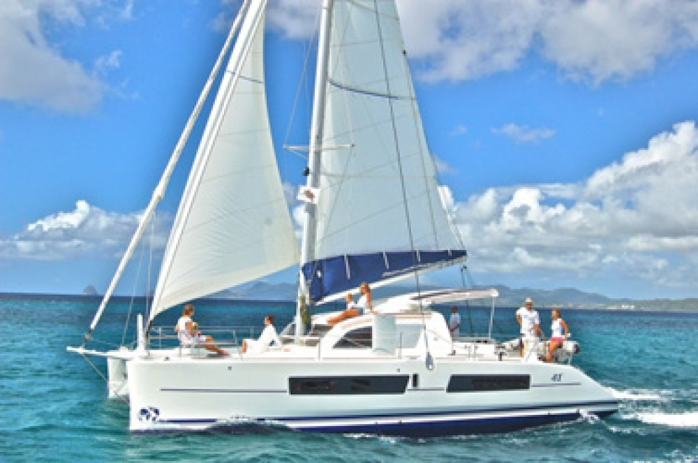 Boat rental Rodney Bay Marina cheap Catana 42 Carbon Infusion