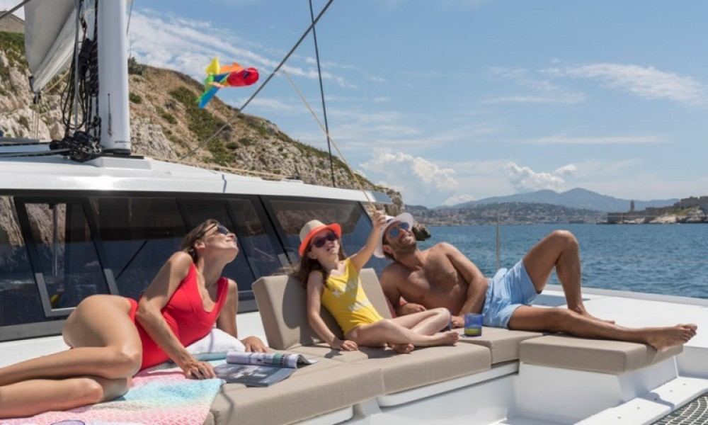 Fountaine Pajot Astrea 42 between personal and professional La Paz