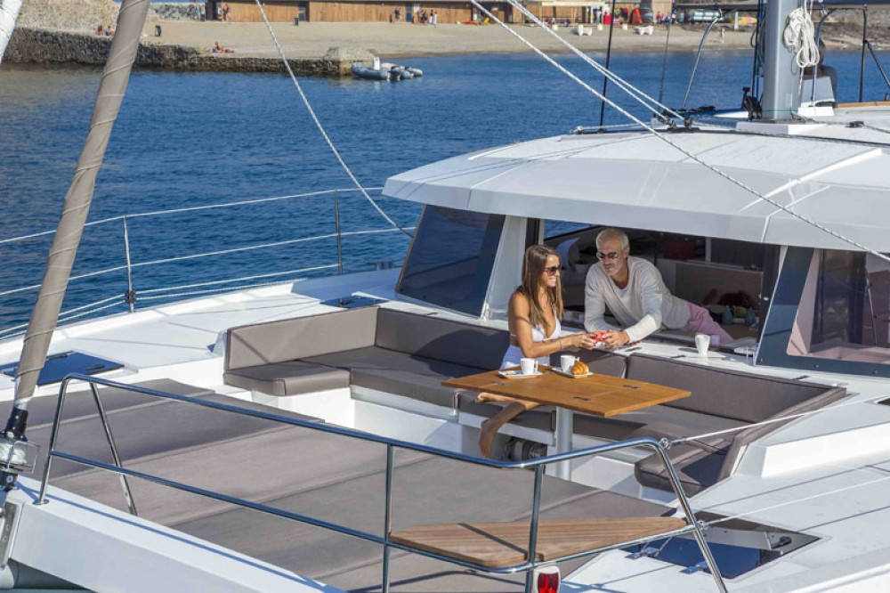 Catana Bali 4.5 between personal and professional Baie Sainte Anne