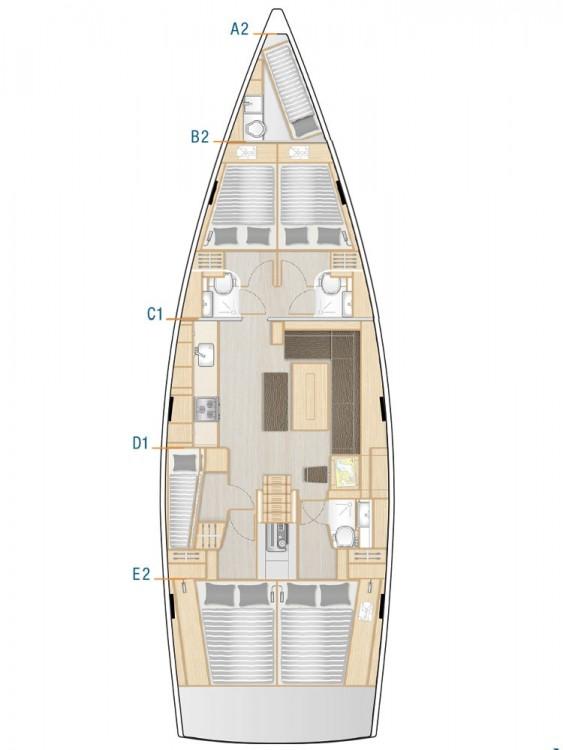Rental Sailboat in Marina Kaštela - Hanse Hanse 508 - 5 + 1 cab.