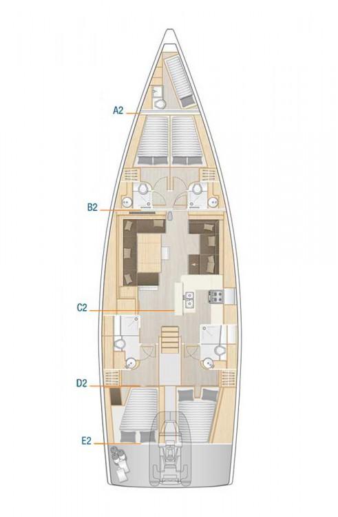 Boat rental Hanse Hanse 588 in Croacia on Samboat