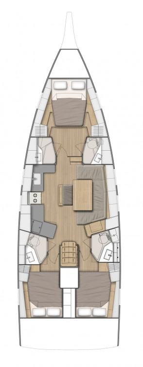 Boat rental Trogir cheap Oceanis 46.1 - 3 cab.