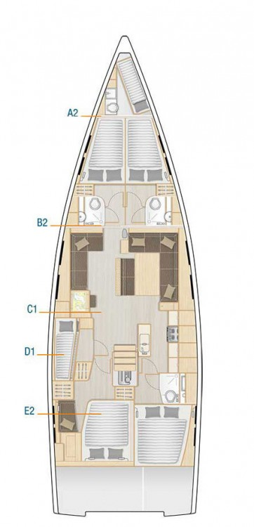 Boat rental Hanse Hanse 548 in Croatia on Samboat