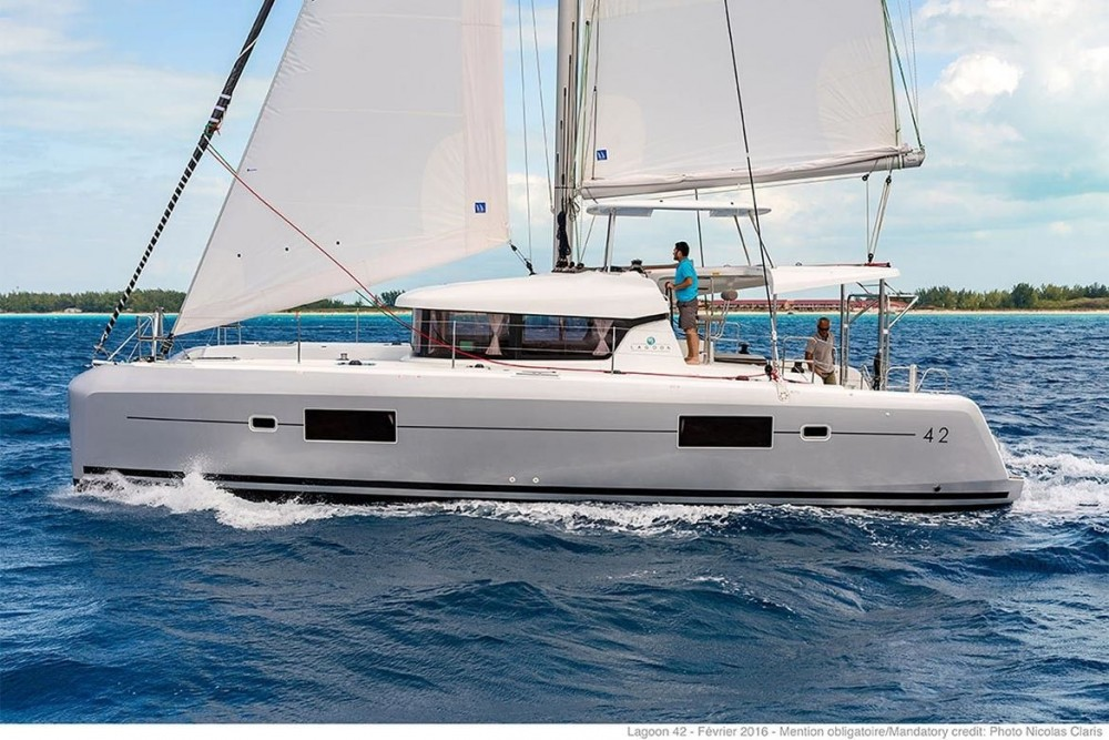 Boat rental Balearic Islands cheap Lagoon 42