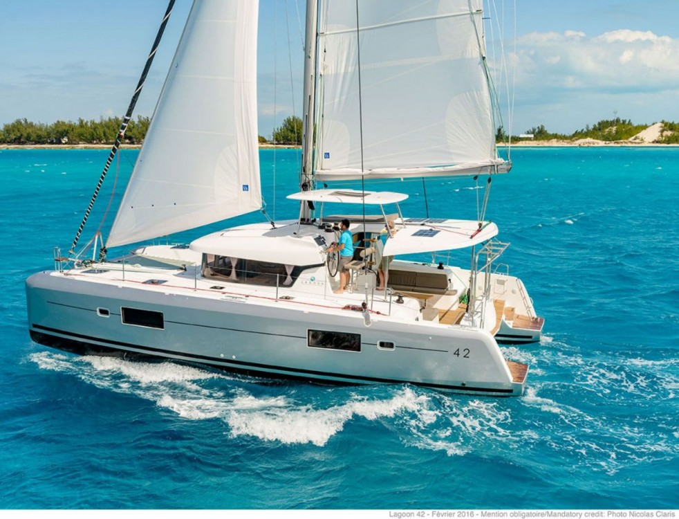 Rental Catamaran Lagoon with a permit