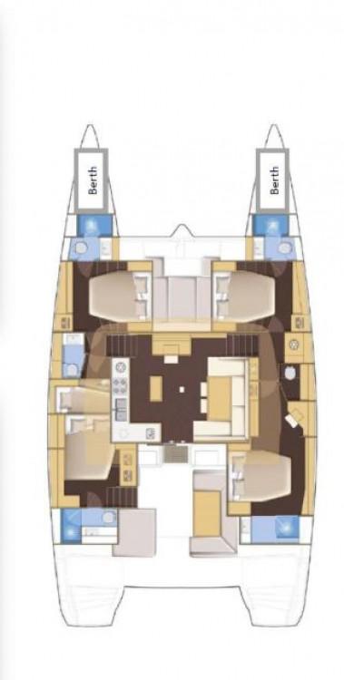 Rental yacht Victoria - Lagoon Lagoon 52 F - 5 + 2 cab. on SamBoat