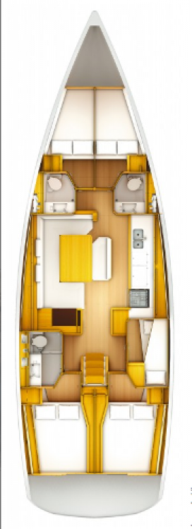 Rental Sailboat in Marina Kaštela - Jeanneau Sun Odyssey 519
