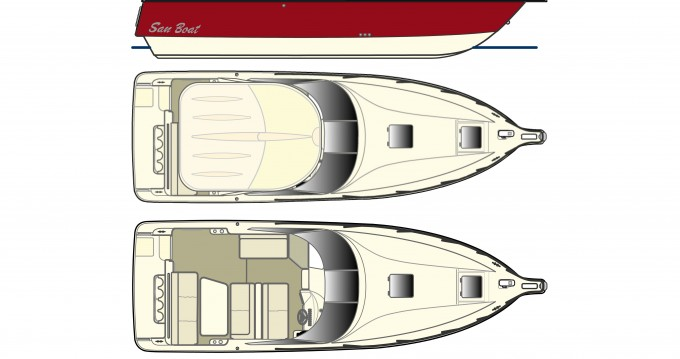 Boat rental  cheap San Boat 980 Cuddy