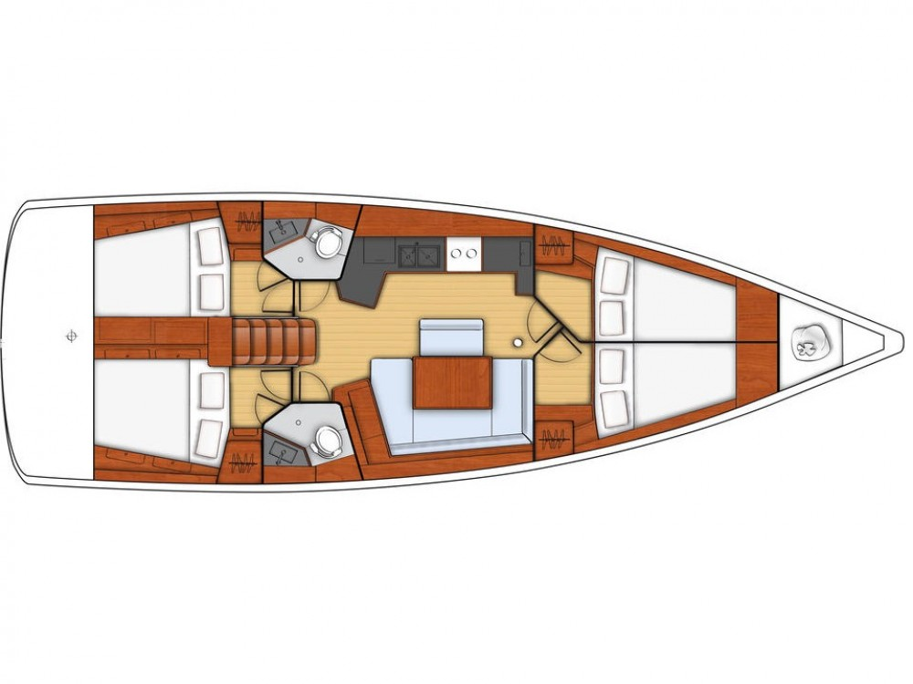Rental yacht Las Palmas de Gran Canaria - Bénéteau Oceanis 45-4 on SamBoat