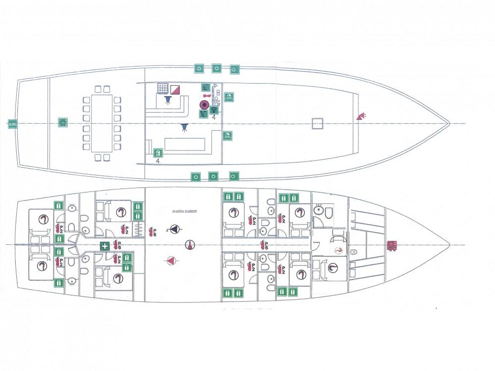 Rental Sailboat in Greece -  Gulet Hemera