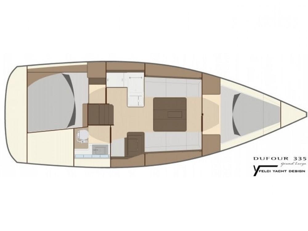 Boat rental Dufour Dufour 335 GL in Orhaniye on Samboat