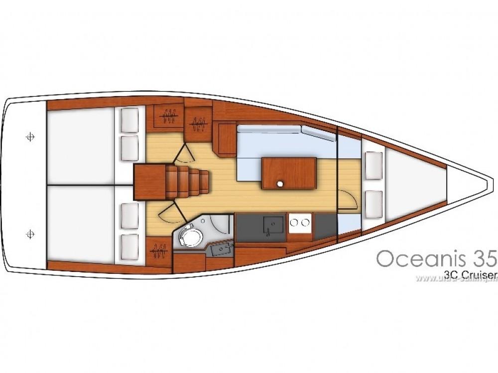 Rental yacht ACI Marina Split - Bénéteau Oceanis 35.1 on SamBoat