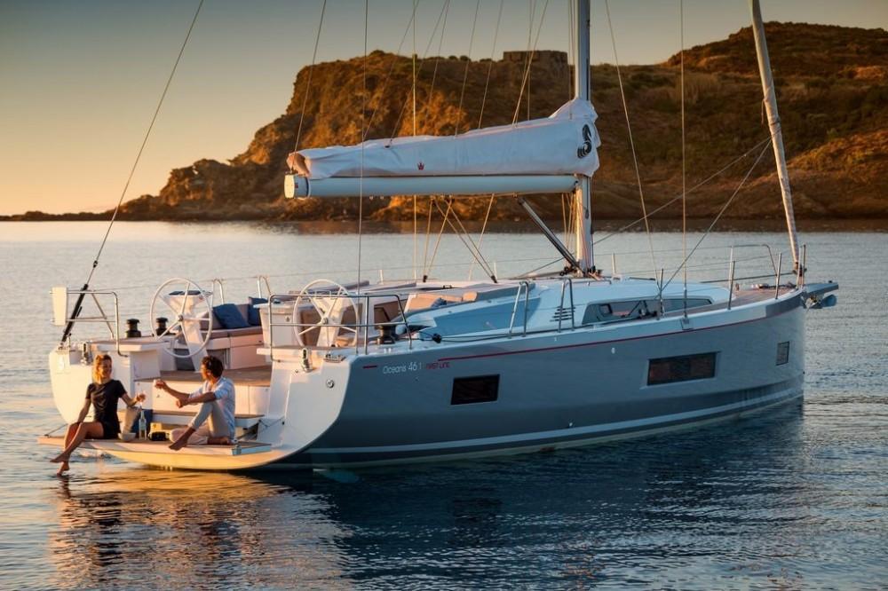Boat rental Athens cheap Oceanis 461